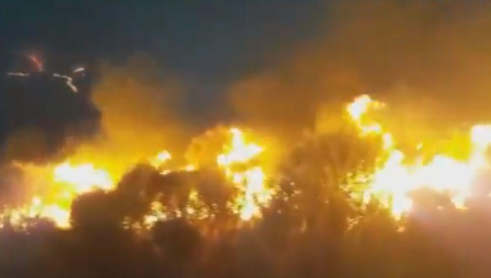 Incendio en Terque