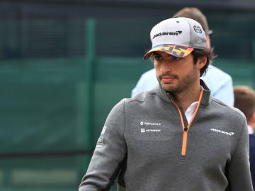 Carlos Sainz, en Silverstone