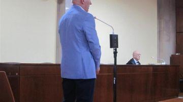 El procesado durante el juicio.