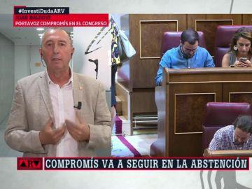 """Joan Baldoví, sobre la última oferta de PSOE a Podemos: """"Yo la hubiera valorado seriamente"""""""