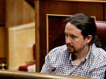 El líder de Unidas Podemos, Pablo Iglesias