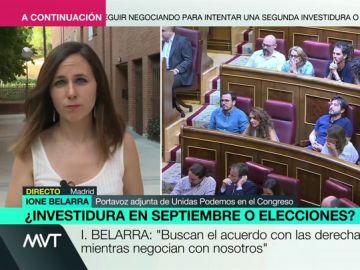 """Ione Belarra (Unidas Podemos): """"El PSOE nos ofrecía títulos bonitos que no suponen ni el 5% del presupuesto"""""""