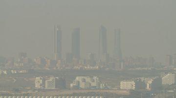 Imagen de contaminación en Madrid (Archivo)