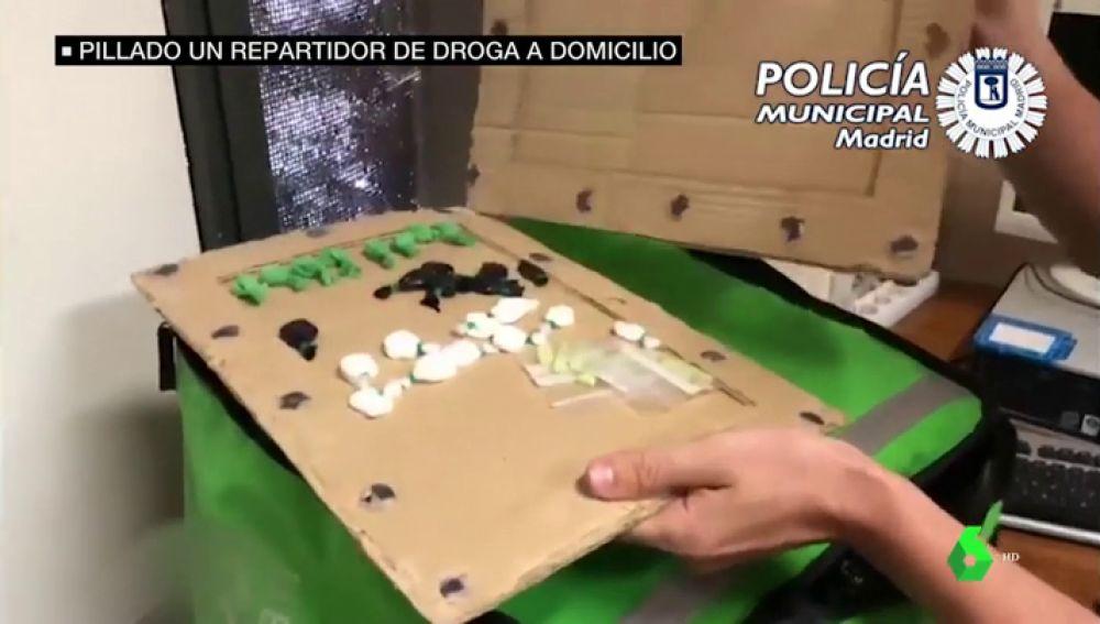 Pillan a un 'rider' que transportaba droga a domicilio
