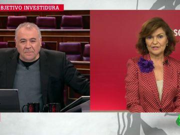 """Carmen Calvo: """"Podemos quería el ministerio de Trabajo, pero las políticas de Empleo son el eje del PSOE"""""""