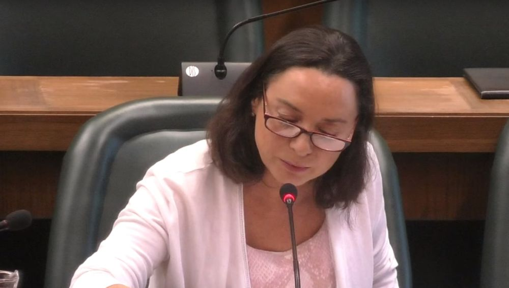 Carmen Rouco, concejal de Vox en el Ayuntamiento de Zaragoza