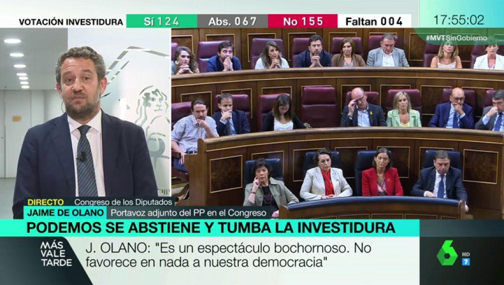 "Jaime de Olano (PP): ""Me preocupa que Sánchez diga que su programa coincide al 90% con Podemos"""