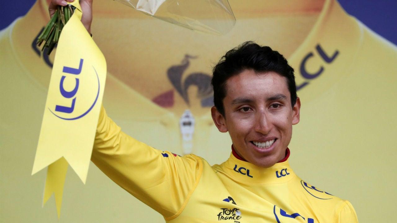 Bernal, con el maillot amarillo