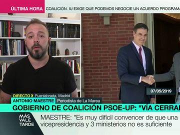 """Antonio Maestre, crítico con Unidas Podemos: """"Una vicepresidencia y tres ministerios era una grandísima oferta"""""""
