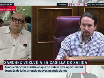 "Miquel Giménez, tras la investidura fallida: ""La tomadura de pelo de Pedro Sánchez a Pablo Iglesias ha sido colosal"""