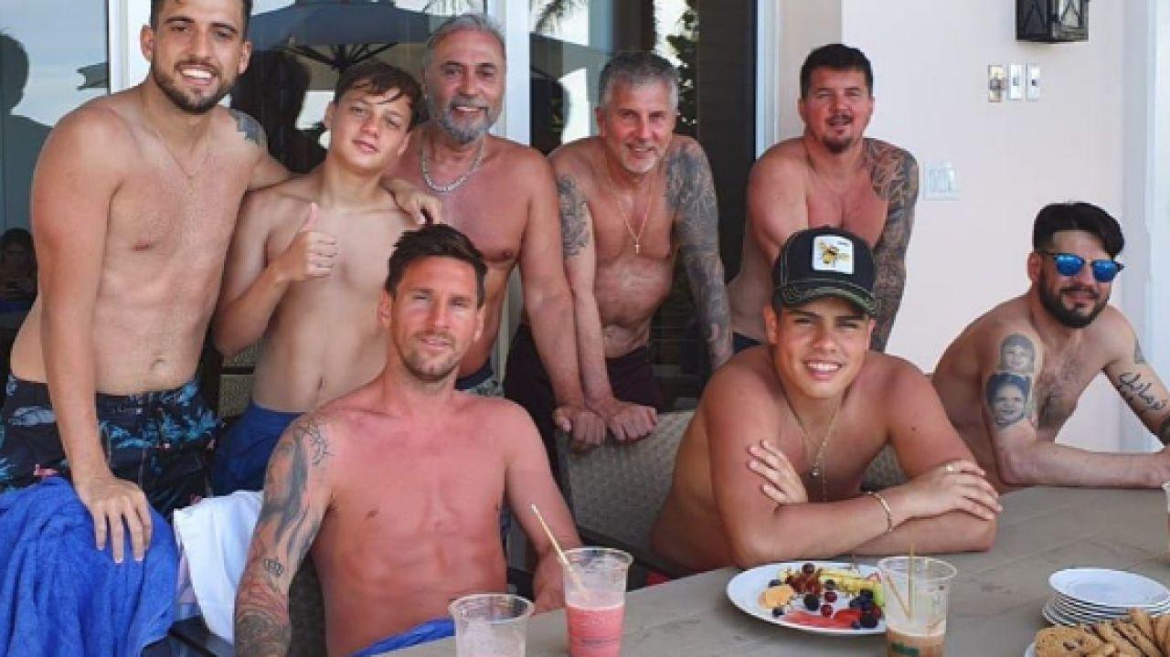 Messi, con su familia en vacaciones