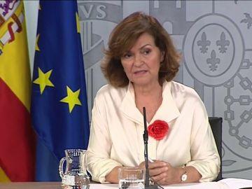 """Carmen Calvo: """"No ha podido ser por la irresponsabilidad de las derechas"""""""