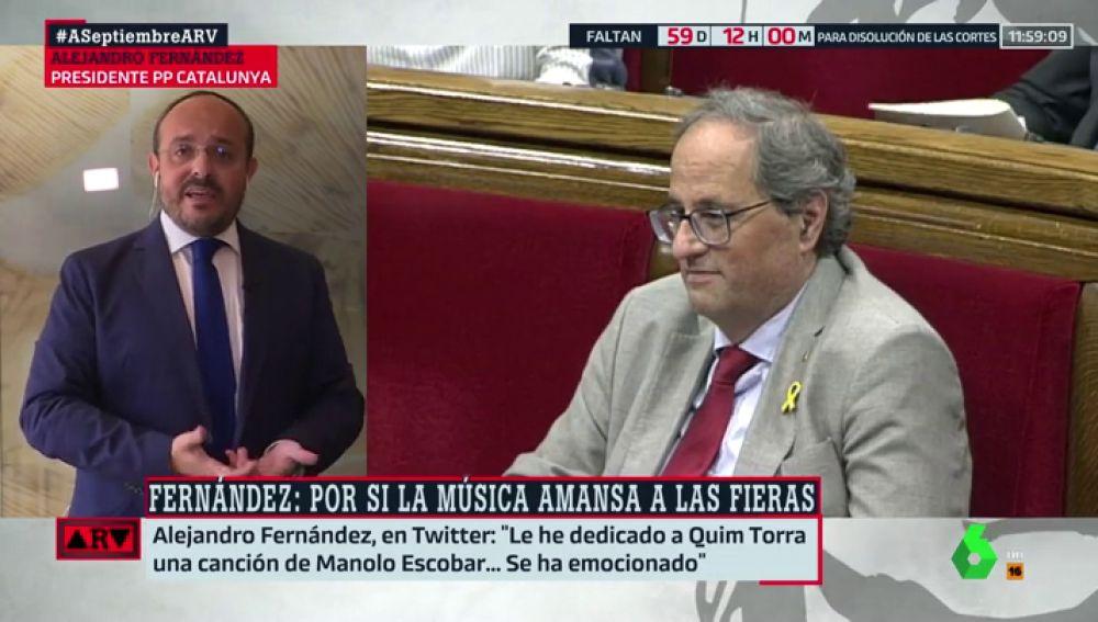 Alejandro Fernández y Quim Torra
