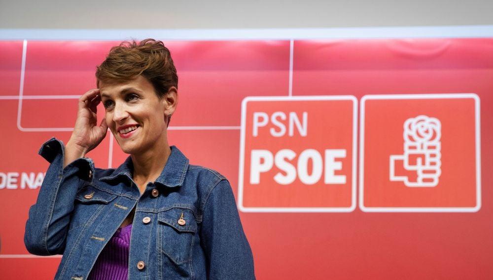 La secretaria general del PSN y candidata a presidir Navarra, María Chivite