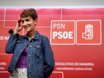 La candidata a presidir Navarra, María Chivite