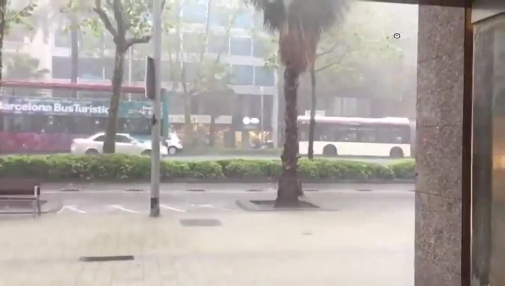 Lluvias torrenciales en Barcelona