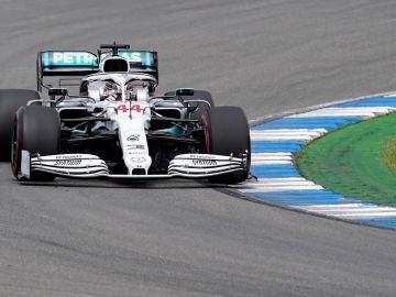 El conductor británico de Fórmula 1, Hamilton