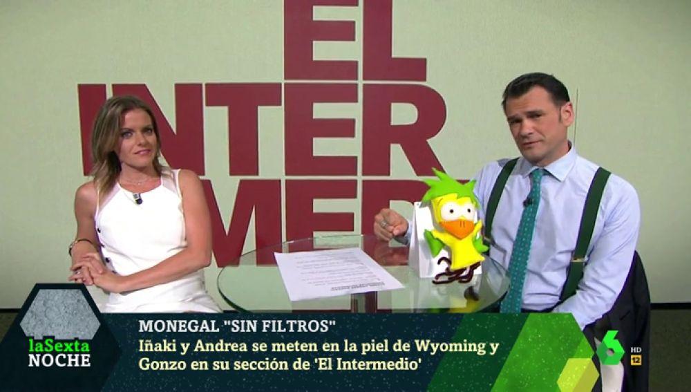 Iñaki López y Andrea Ropero en laSexta Noche