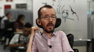 El secretario de Acción Política de Unidas Podemos, Pablo Echenique