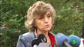 María Luisa Carcedo, ante los medios