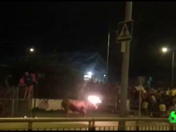 Toro embolado en Sagunto