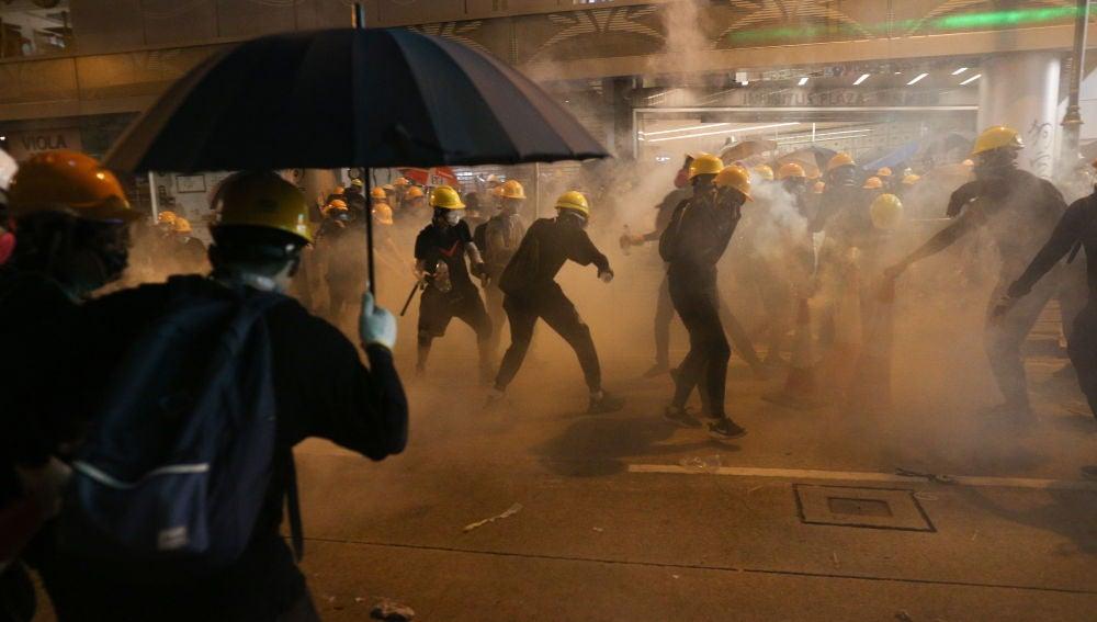 Manifestación prohibida en Hong Kong