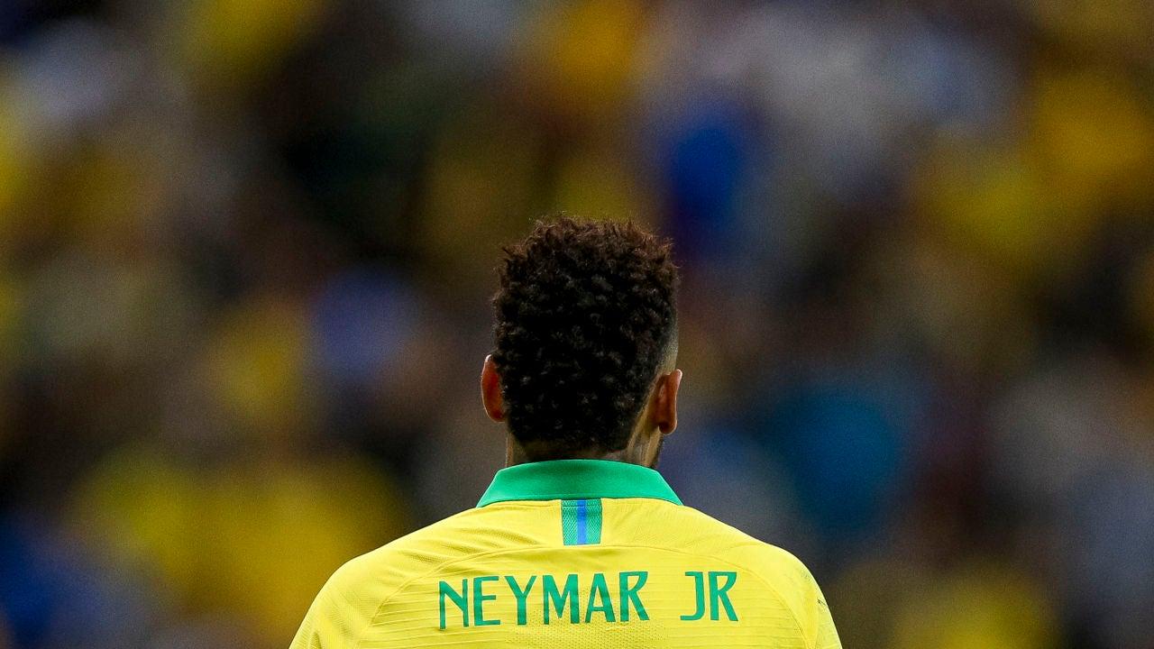 Neymar, durante un partido de Brasil