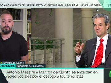 """Antonio Maestre responde a Marcos de Quinto: """"Su propuesta es el ojo por ojo, la legitimación de la tortura como castigo"""""""