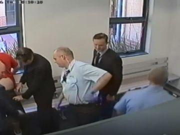 La detención del hombre en el juzgado de Perth, Australia