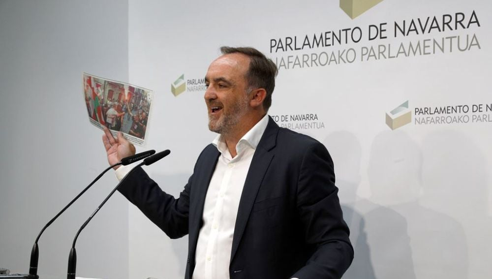 El portavoz de Navarra Suma, Javier Esparza
