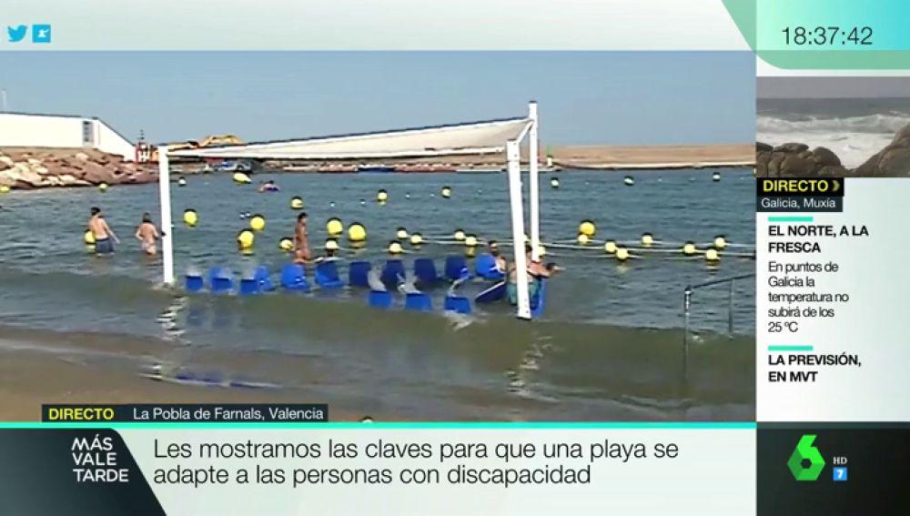 Una playa accesible a personas con discapacidad