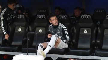 Gareth Bale, en el banquillo del Real Madrid