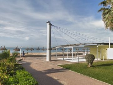 Playa de Palma donde tuvo lugar la agresión grupal al menor