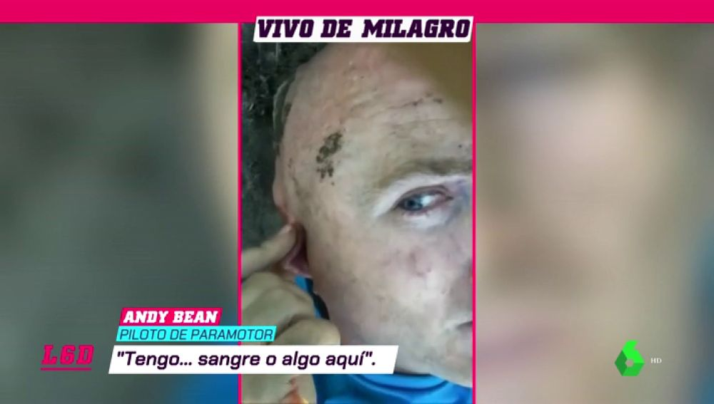 "El parapentista Andy Bean revive su espeluznante accidente: ""Olí combustible, el motor estaba encendido"""