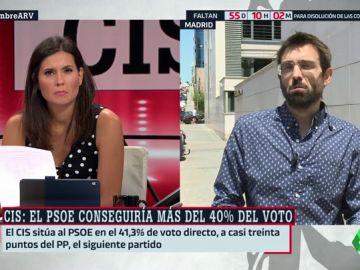 """Kiko Llaneras, analista político: """"Las primeras señales indican que el PSOE va a pagar la investidura fallida"""""""
