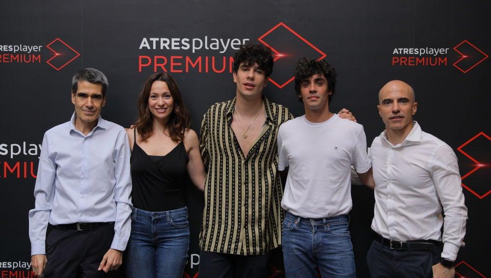 Los Javis y Natalia Verbeke en la presentación del nuevo ATRESplayer Premium