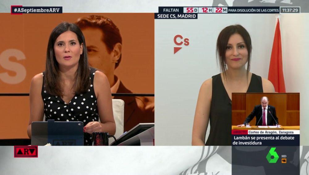 """Lorena Roldán (Cs) rechaza formar un Gobierno en coalición con el PP: """"Nosotros queremos hacer oposición"""""""