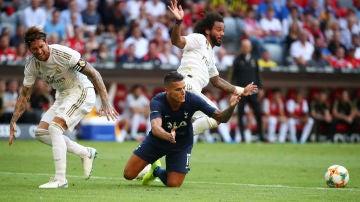 Momento del partido entre Real Madrid y Tottenham