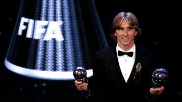 Palmarés del The Best: Los ganadores de los premios de la FIFA | Luka Modric, ganador del premio The Best 2018