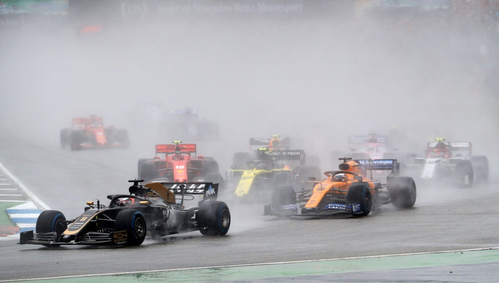 Momento de la carrera del GP de Alemania