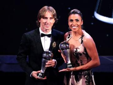 Modric y Marta, ganadores del premio The Best en 2018