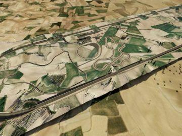 Proyección del circuito oval de Toledo