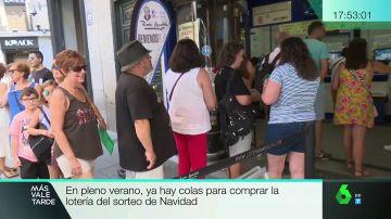 Colas para comprar lotería de Navidad en pleno verano: ya hay números agotados en julio