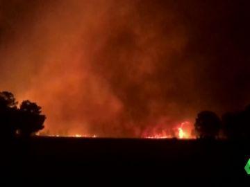 Incendio en Barchín del Hoyo, Cuenca