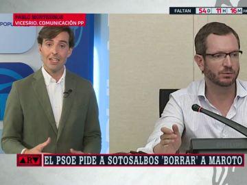 """Pablo Montesinos defiende el nombramiento de Maroto: """"¿Cuántas veces ha estado el señor Marlaska en Cádiz?"""""""