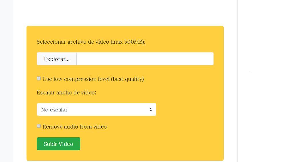 como bajar el peso de un video sin programas en android