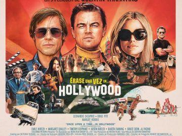 Uno de los carteles promocionales de 'Érase una vez en Hollywood'