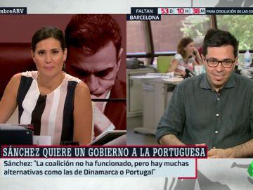 """Gerardo Pisarello (En Comú Podem): """"El PSOE no puede dramatizar, dar un portazo y decir 'ahora solo queremos un acuerdo de programa'"""""""