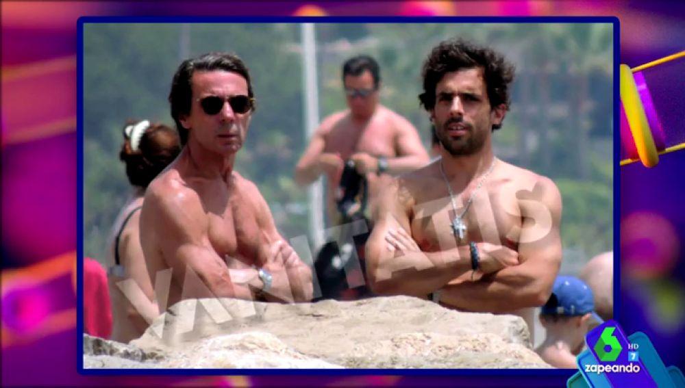 Aznar y su hijo