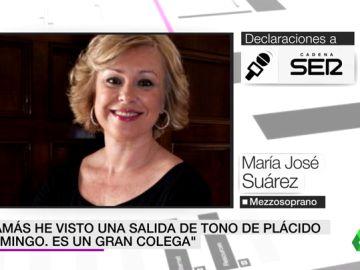 """La mezzosoprano María José Suárez sale en defensa de Plácido Domingo: """"He visto a mujeres que iban detrás de él"""""""